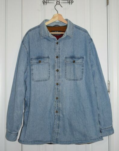 Vintage Woolrich Men's Denim Barn Chore Jacket Bla