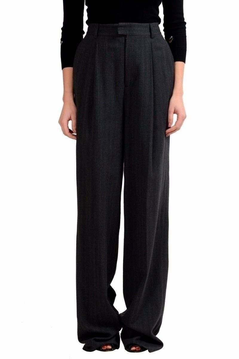 Dsquared2 Lana grey a Righe women Pantaloni Casual USA S It 40