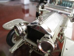1-24-Franklin-Mint-1907-Rolls-Royce-The-Silver-Ghost-Metal-Hood-Ornament-Only