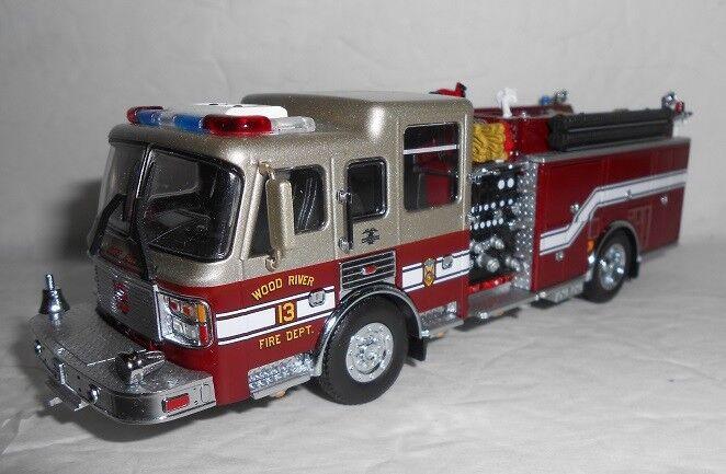 RARE Code 3 Wood River, IL American LaFrance Fire Pumper  13
