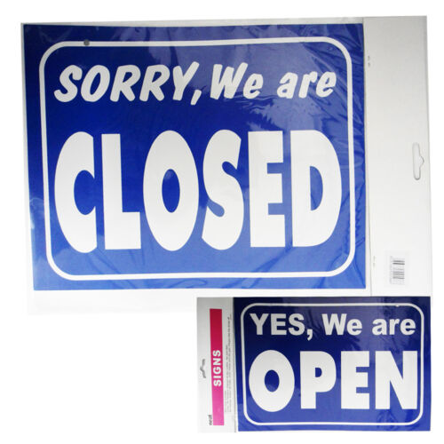 Store Hours Sign Shop We are Open REVERSE Closed Business Hour Office Restaurant