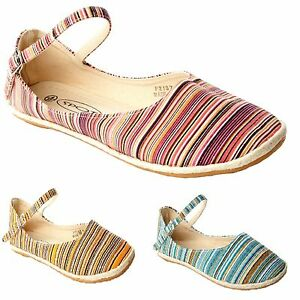 WOMENS-MULTI-COLOUR-CANVAS-FLAT-DOLLY-PUMPS-SUMMER-SHOES-LADIES-UK-SIZE-3-8
