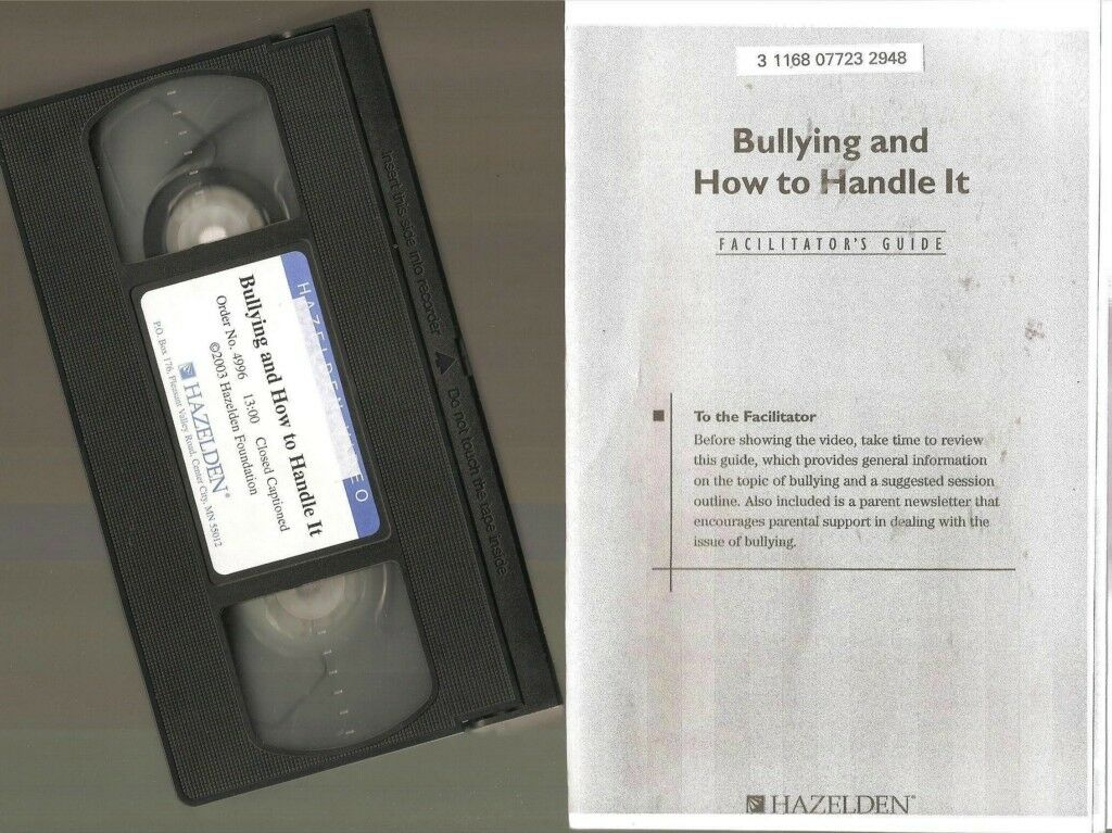 VHS Video + GRADES 3 & 4 BULLYING AND HOW TO HANDLE IT Hazelden EDUCATION