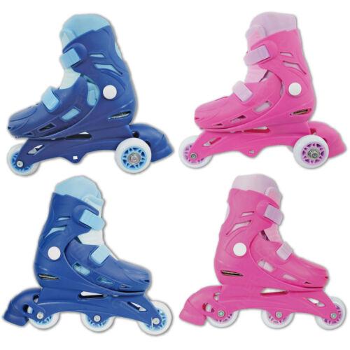 Chad Valley Dual Triline Inline Adjustable 2 in 1 Roller Skates Kids Tri In Line