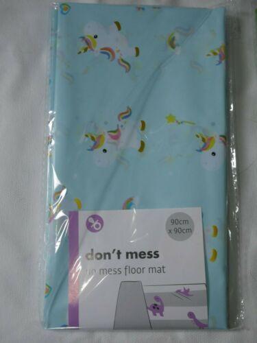 Large Baby Floor Mat Unicorn Dinosaur No Mess Feeding Cover Play Splash Painting