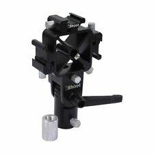 iShoot IS-ST-DZ Triple Shoe Light Stand Holder Umbrella Tri-Hot Shoe Mount