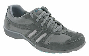 Details about Skechers Breathe Easy Jackpot Shoes Womens Classic Memory Foam Lace Up Trainers