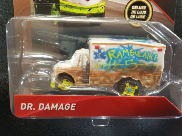 DISNEY PIXAR CARS DR DAMAGE THUNDER HOLLOW DELUXE 2018 SAVE 6% GMC