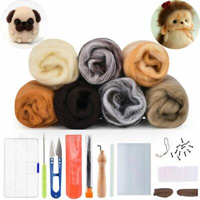 Animal Wool Felt Needle Craft Felting Akita Dog Cat Panda Raccoon Rabbit DIY Kit