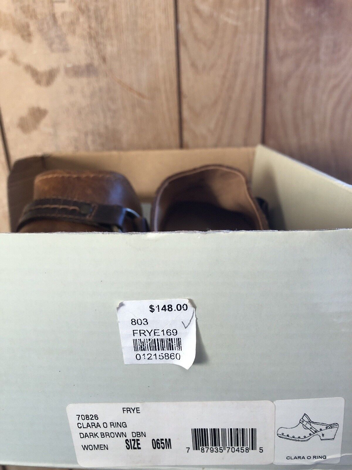Frye scarpe 6.5 Clara O Ring New In Box