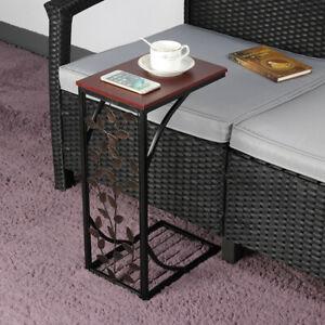 Leaf Pattern Little Sofa Side End Table