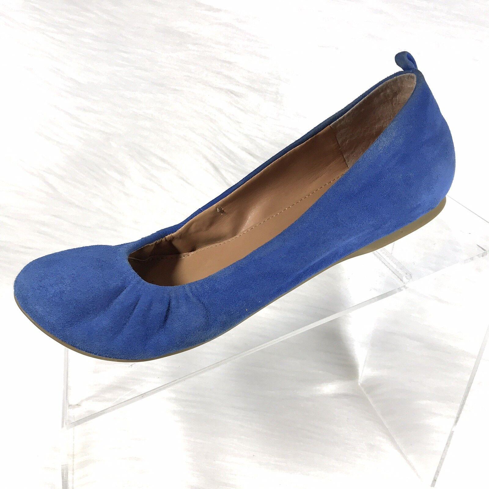 J Crew Cece Women's Ballet Flats bluee Suede size 6.5