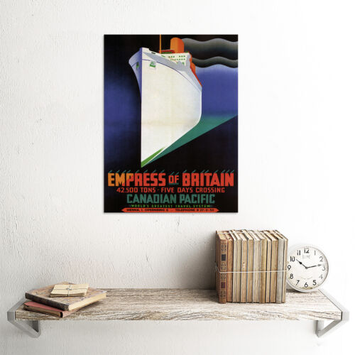 TRAVEL EMPRESS OF BRITAIN CANADA SHIP CRUISE VINTAGE ADVERTISING POSTER 2371PY
