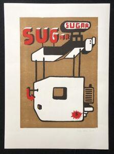 Antje-Spina-Sugar-pressione-di-combinazione-2009-a-mano-firmato-e-datato