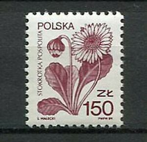 38833-Poland-1989-MNH-Definitive-Flower-1v