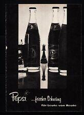 3w492/ Alte Reklame - von 1960 - PEPSI …frischer Schwung für Leute von Heute