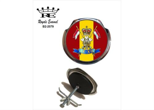 B2.2079 PRINCE OF WALES/'S OWN ROYALE CAR GRILL BADGE 9TH//12TH ROYAL LANCERS