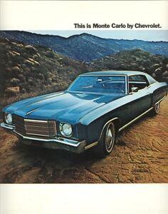 1970 Chevrolet Monte Carlo Sales Brochure