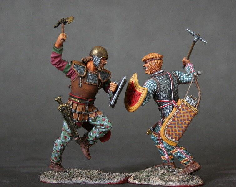 Tin Soldier, art, Persian and Scythian warrior, mercenary, Battle silverea, 54 mm