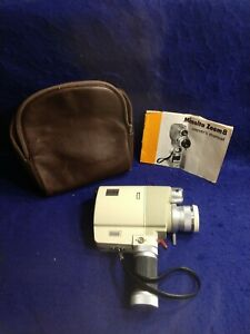 Details about Vintage Minolta Movie Camera Zoom 8 w/ Original Manual & Bag  APPEARS NEW MINT!!