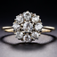 Antique-2-62-CT-Round-Cz-14K-Yellow-Gold-Finish-Cluster-Engagement-Promise-Ring thumbnail 1