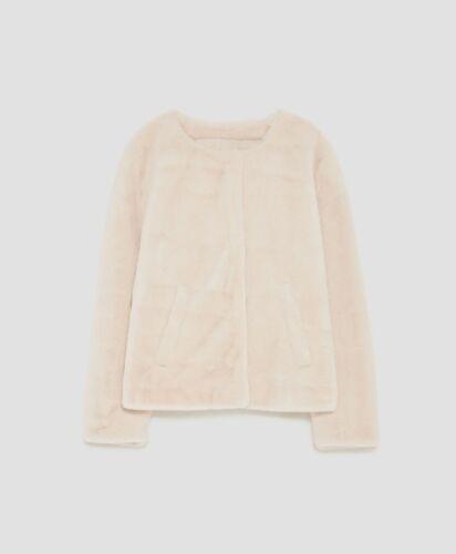 Faux Zara M 12 Uk White Taglia 10 Jacket Fur 55awxH