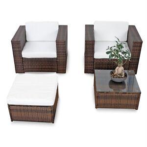 Polyrattan lounge sessel  10tlg. Polyrattan Gartenmöbel XXL Lounge Sessel Set Sitzgruppe ...