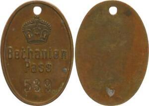 Eingeborenen Passmarke Nummer 539 Bethanien circa 1910 Kolonien (49756)