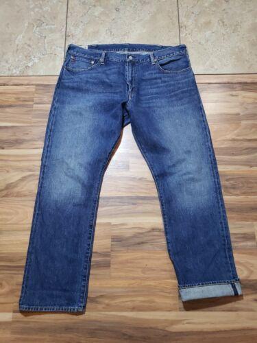 POLO RALPH LAUREN Redlines Blue Jeans 38x30 Measur