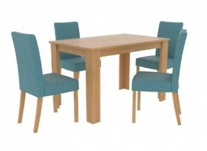 Image Is Loading LPD Atlanta Dining Table Oak Effect Chair Option