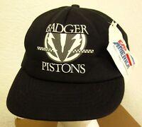 Badger Pistons Dynagear Corporation Baseball Hat Bedford Park Cap 1980s Snap