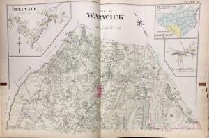 1903 ORANGE COUNTY NY WARWICK HIGH SCHOOL RED SWAN INN COPY PLAT ATLAS MAP