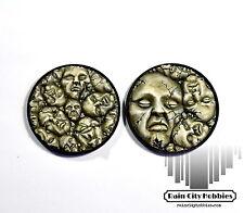Large Broken Face Base Inserts x2 - Resin - Kingdom Death