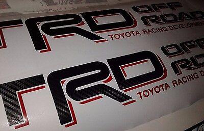 set TRD Off Road decal Sticker fiber carbono cut