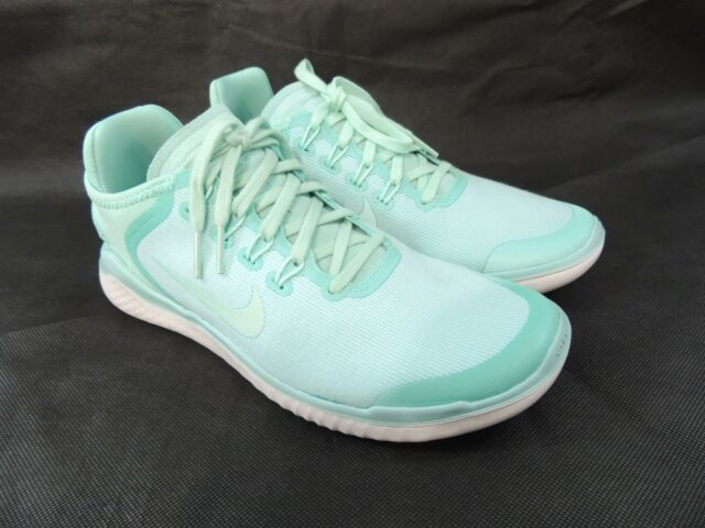 934c4d4bd90b5 Nike Womens Free RN 2018 Sun Shoes Island Green Vast Gray AH5208-300 Size 8