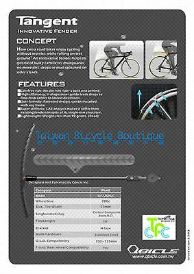 QBICLE Tangent Fender Bike Mudguard Elegant Fit for Front Rear Wheel