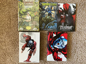 Graphic-Novel-Lot-Swamp-Thing-New-52-Vol-1-2-3-Omnibus-Deadman-Tpb-Hardcover-HC