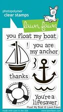"""LAWN FAWN FLOAT MY BOAT LF654 CLEAR STAMP SET (3""""x4"""")"""