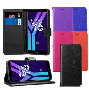 Pour-Huawei-Y6-2018-Case-Premium-Portefeuille-En-Cuir-Flip-Case-etui-Housse-Ecran