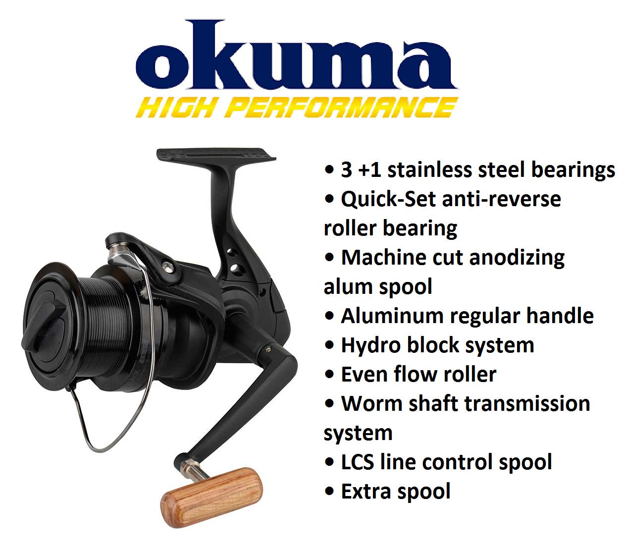 OKUMA Personalizzato Nero CB60 Pesca autopa gree Pit Mulinello