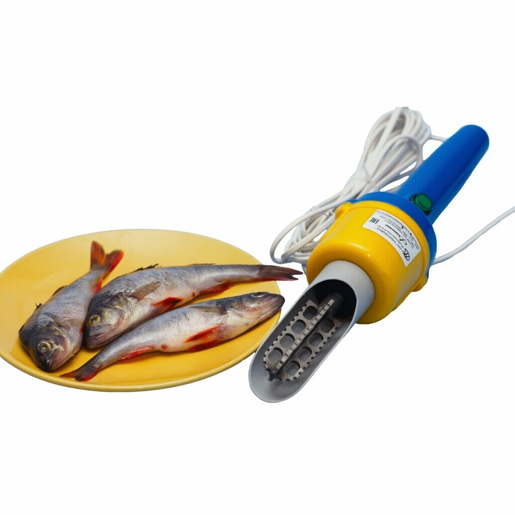 Electric Fish Scaler Device for cleaning fish from a network of 220/12V 3000 rpm