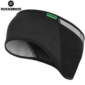 ROCKBROS-Cycling-Cap-Protector-Winter-Warm-Fleece-Ear-Warmer-Outdoor-Black