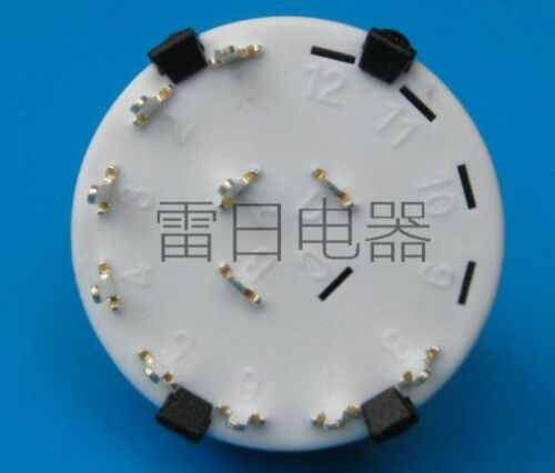 PANEL PCB Mount SOLDER-Type 5 WAY Adjustable Non-Shorting ROTARY SWITCH POT 2P5T