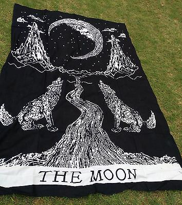 Crying Wolf of The Moon Tapestries Bohemian Bedspread  Decor Wall  Hanging Art*