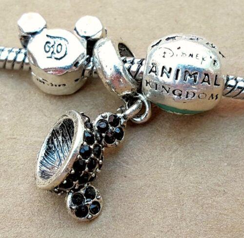 Disney Parks Animal Kingdom Mickey CZ Ears Hat D60 Mouse Beads European Charms