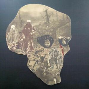 Unique collage Memento Mori Grande Vanité crane WWI première guerre mondiale