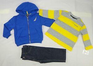 Nautica-Baby-boys-set-3-Piece-Hoodie-Tee-amp-Pants-Set-12-18-24-months