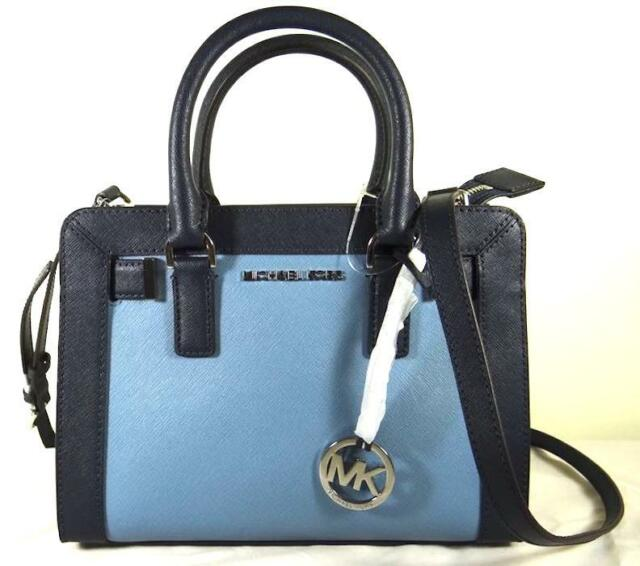 77ebed8ef4 Authentic Michael Kors Leather Dillon Blue Small Satchel Crossbody. +.   129.98Brand New. Free Shipping