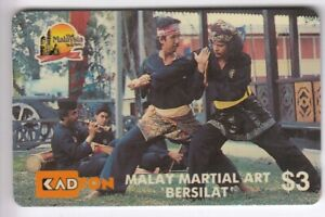 Adaptable Asie Telecarte / Phonecard .. Malaysie 3$ Gpt 6msth Privee Malay Martial Art 91