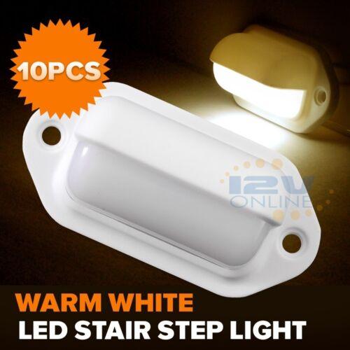 Boat Lights RV Stair Walkway LED Lighting Waterproof Warm White 12volts 10pcs